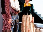 Christopher Krieg (als Weislingen), Pierre Sanoussi-Bliss (als Götz) und Nadja Wünsche (als Marie)